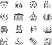 Germany icons Royalty Free Stock Images
