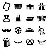Germany Icons Stock Image