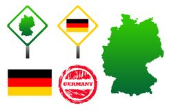 Germany icons set Stock Photography