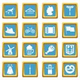 Germany icons azure Royalty Free Stock Photography