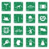 Germany icons set grunge Stock Images