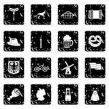 Germany icons set Stock Photography