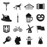 Germany icons set, simple style Stock Photos