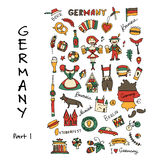 Germany icons set. Sketch for your design Stock Photos