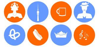 The germany icons Royalty Free Stock Photography