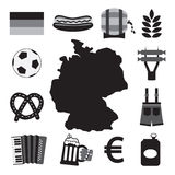 Germany Icons Set. Vector Illustration Stock Photography