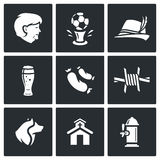 Germany icons set. Vector Illustration. Royalty Free Stock Image