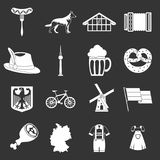 Germany icons set grey vector. Germany icons set vector white isolated on grey background Royalty Free Stock Photo