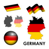 Germany icons Royalty Free Stock Photo