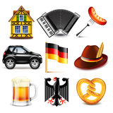Germany icons vector set Royalty Free Stock Photos