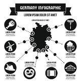 Germany infographic concept, simple style Stock Images