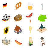 Germany isometric 3d icons Royalty Free Stock Images