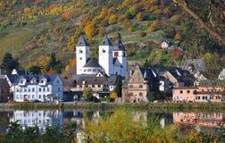 germany karden Mosel treis wioskę Obrazy Royalty Free