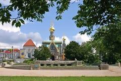 Germany.The kerk van orthodox. Royalty-vrije Stock Afbeeldingen