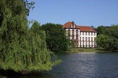 Germany Kiel. Germany, Schleswig-holstein, Kiel, Kleiner Kiel and Ministry of Justice stock photography