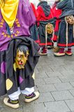Germany, Lahr - JANUARY 17: Participants in costumes perform a s. Treet procession Carneval Fasnacht January 17, 2016 in the city of Lahr, Germany. Traditionally Royalty Free Stock Photography