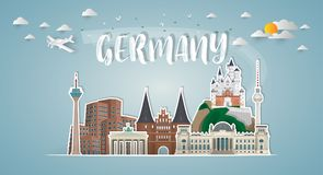 Free Germany Landmark Global Travel And Journey Paper Background. Vec Stock Photo - 119667700