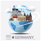 Germany Landmark Global Travel And Journey Infographic Royalty Free Stock Photography