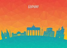 Germany Landmark Global Travel And Journey paper background. Vec. Tor Design Template.used for your advertisement, book, banner, template, travel business or Stock Photo