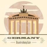 Germany landmarks. Retro styled image Stock Photos