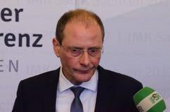GERMANY, LEIPZIG - DEZEMBER 07, 2017: Markus Ulbig, Innenministerkonferenz Royalty Free Stock Image