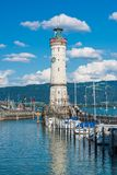 Lighthouse of Lindau at lake Constance, Bodensee Stock Image