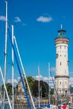 Lighthouse of Lindau at lake Constance, Bodensee Stock Images