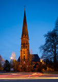 Germany, local church at night Stock Photography