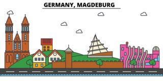 Germany, Magdeburg. City skyline architecture . Editable Stock Photos