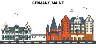 Germany, Mainz. City skyline architecture . Editable Stock Photography
