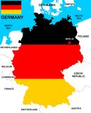 Germany Map Royalty Free Stock Photos