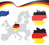 Germany map. Highly detailed illustration royalty free illustration