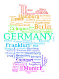 Germany map Stock Photography