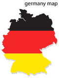 Germany map. Illustration of Germany map with flag royalty free illustration