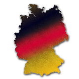 Germany map Royalty Free Stock Photography