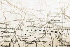 Germany map with BERLIN Stock Photography