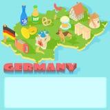 Germany map, cartoon style Stock Photo