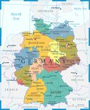 Germany Map - Color Grid - Highly detailed vector illustration. Germany Map - Color Grid - detailed vector illustration vector illustration