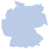 Germany map dots Stock Image