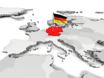 Germany an map of Europe Royalty Free Stock Photo