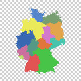 Germany map with federal states. Flat vector Royalty Free Stock Images