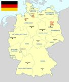 Germany map - cdr format Royalty Free Stock Images