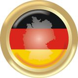 Germany map and flag Royalty Free Stock Images