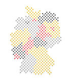 Germany Map and Flag colors Stock Photos