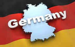 Germany map and flag vector illustration