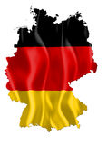 Germany map with flag. Germany map with waving flag royalty free illustration