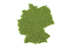Germany Map From Green Grass, 3D Rendering Royalty Free Stock Photo