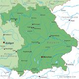 Germany - Map of Germany - `Bayern` - high detailed vector illustration