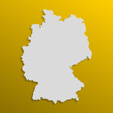 Germany map in gray with shadows and gradients on a orange background Royalty Free Stock Photos
