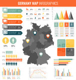 Germany map with Infographic elements. Infographics layouts. Vector Stock Photos